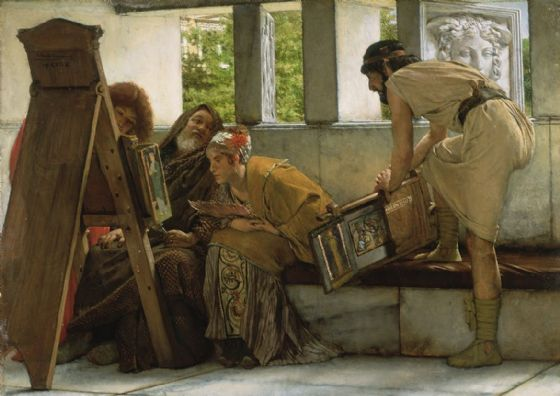 Alma-Tadema, Sir Lawrence: A Roman Studio. Fine Art Print/Poster. Sizes: A4/A3/A2/A1 (003806)